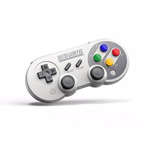 Manette pour Nintendo Switch PC, 8Bitdo SF30 PRO Gamepad Controller Sans Fil pour Raspberry Pi, Android, Windows, macOS, Steam