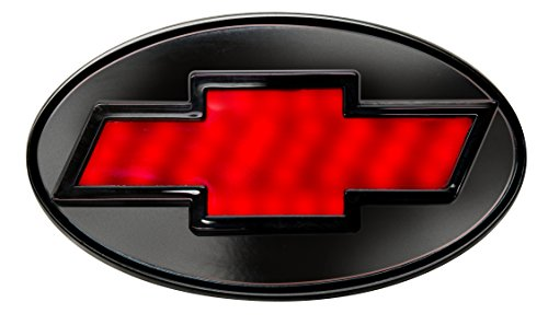 Reese Towpower 86530 Black Finish Chevrolet Bow Tie Lighted Hitch Cover, 1.25 inch