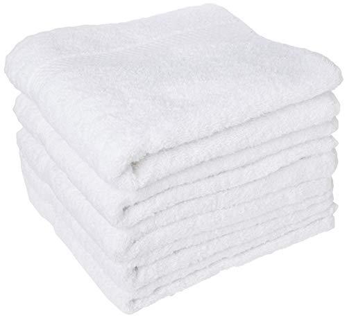 Bonamaison 100% algodón Juego de Toallas Ligera, Suave y Absorbente, 5 Piezas, tamaño:50x80 cm - Fabricado en Turquía