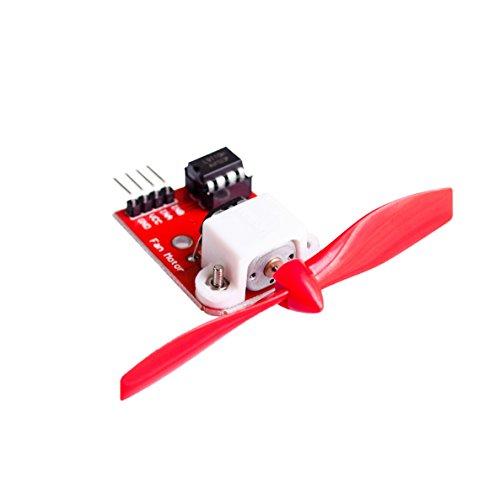 5V L9110 Módulo del motor del ventilador Hélice del ventilador Robot de extinción de incendios para Arduino DIY