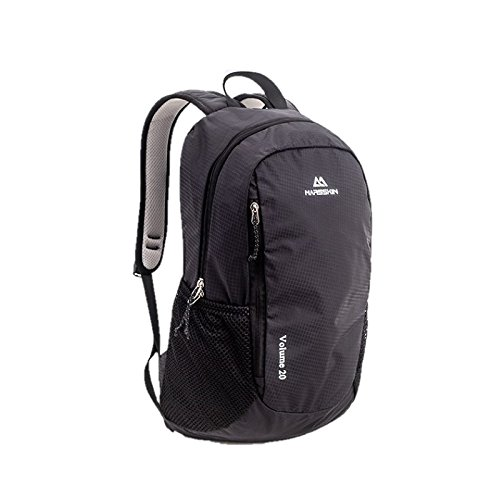 BROGEND Small Backpack for Casual Hiking and Camping (Black, 30L-Foldable)
