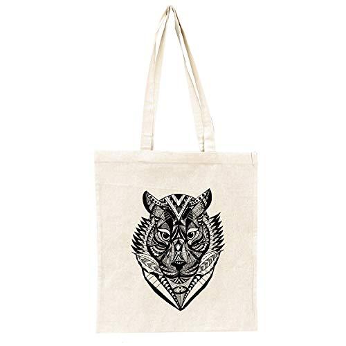 Jutebeutel Tiger - Baumwolltasche Jutebag, Beutel, bedruckt, Tragetasche, Jutetasche, Bag, Jutebeutel, Einkaufstasche, Motiv, bedruckt, Tiger, Katze, Cat