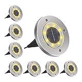 Paquete de luces solares para jardín de 8 luces solares para...