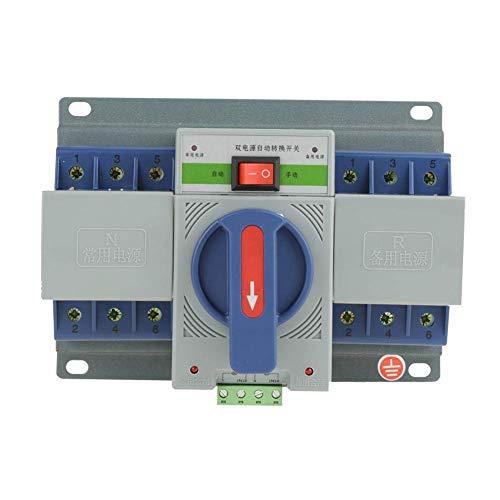 Interruptor de transferencia automática 3P, interruptor de transferencia automática, 3P 63 (A) ZGQ1M inteligente - 63 / 3P para edificios de oficinas en el hogar