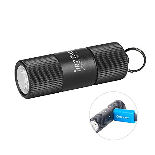 OLIGHT I1R 2 Eos 150 Lumens EDC Flashlight Powered by a Single Built-in Rechargeable Li-ion Battery, Tiny Rechargeable Keychain Light USB Charging Cable Included