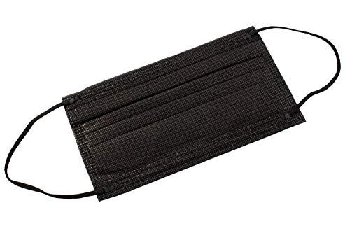 Einweg-Hygienemasken, 3 Schichten (schwarz) 50 psc