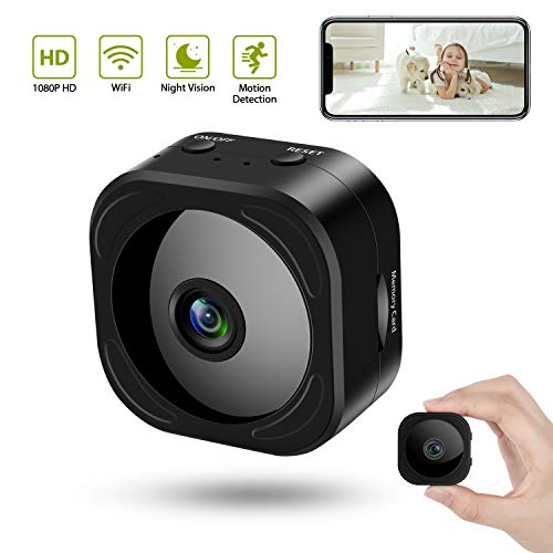 Hidden Camera Wireless 1080P WiFi Mini Camera with Motion Detection Night Vision as Nanny Baby Cam Security Video Recorder for Home Office Indoor with Remote Monitoring for iPhone/Android Phone/iPad