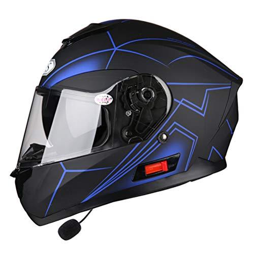 Motorradhelm Integralhelme Doppelvisier Racing Motocross Helm Modularer Motorradhelm Integralhelm mit Bluetooth