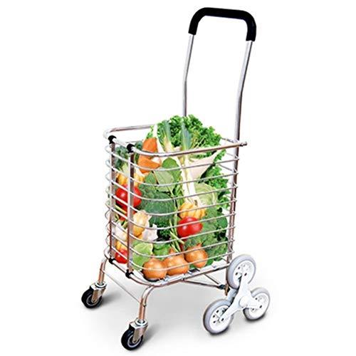 LQBDJPYS Escaleras de escalada en jaula, Carro de la compra ligero, 8 ruedas plegable bolsas de equipaje