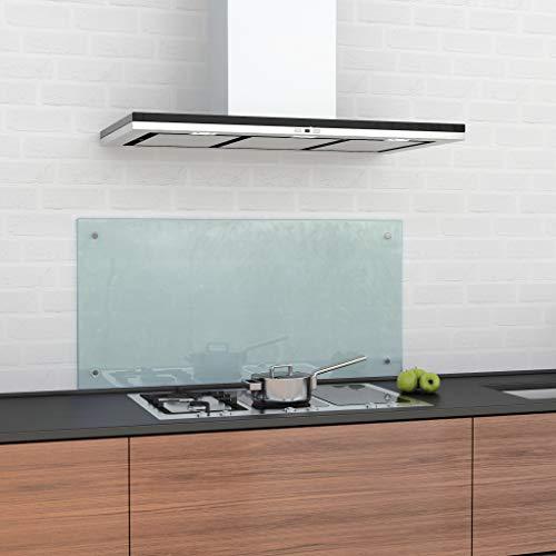 glasshop24 Küchenrückwand/Spritzschutz Satinato Mattglas (HxBxT) 500x900x6mm, inkl. Befestigungsset