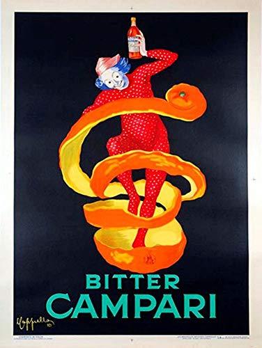 Yilooom Campari Blechschild, Retro, Shabby-Chic-Stil, 20,3 x 30,5 cm