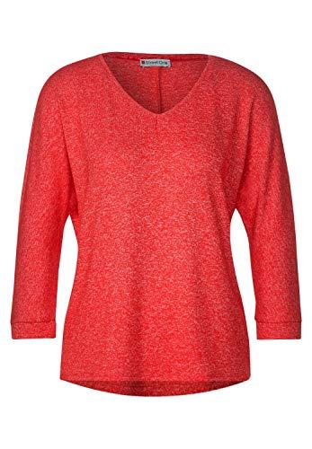 Street One Damen A315375 T-Shirt, Blazing red Melange, 40