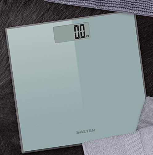 Salter 9028 Razor Ultra Slim Technology Electronic Glass Bathroom Scales Silver