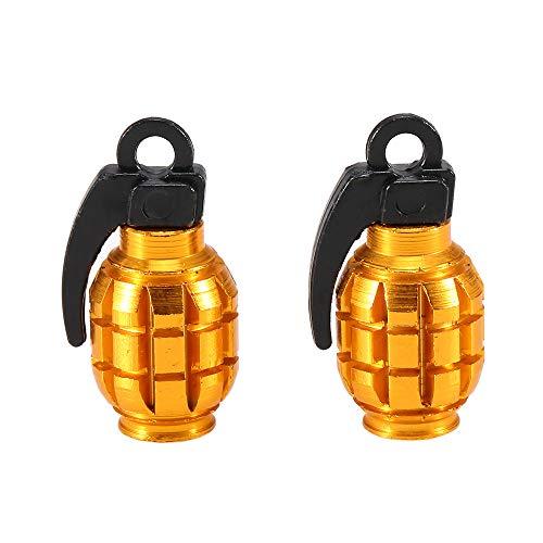 Lixada 2 Stücke Fahrrad Ventilkappen Luft Ventilkappen Reifenventil Staubschutzkappen für MTB Rennrad Motorrad Fahrrad Zubehör