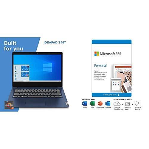 Lenovo IdeaPad 3 14' Laptop, 14.0', Abyss Blue Plus...