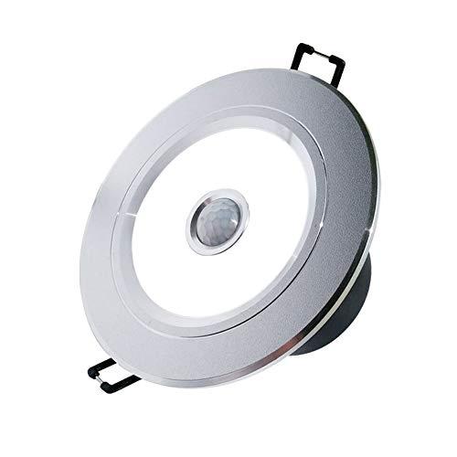 Foco empotrable con sensor de infrarrojos LED Foco de techo empotrado, luz de pared de lavado por inducción con control de luz, for baño Pasillo Sala de estar Cocina Decoración de isla Accesorio de il
