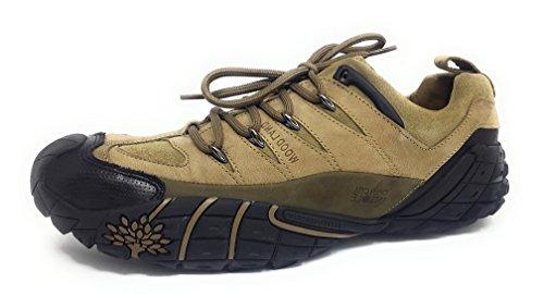 Woodland Men's Khaki Leather Casual Shoes - 9 UK/India (43 EU)