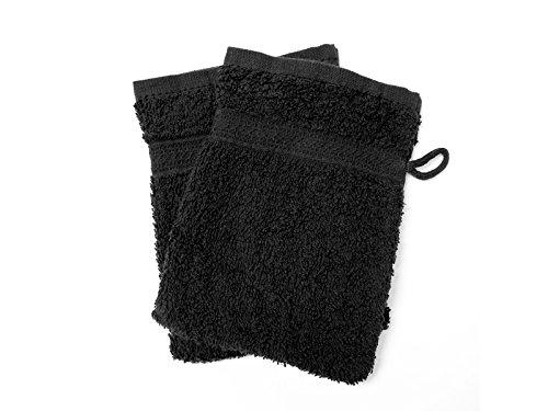 2 Waschlappen UNI schwarz 450 g/m2