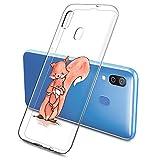 Oihxse Compatible con Samsung Galaxy S8 Silicona Funda Transparente Gel TPU Flexible Protectora Carcasa Dibujos Elefante Patrón Ultra Thin Estuche Cover Case(D8)