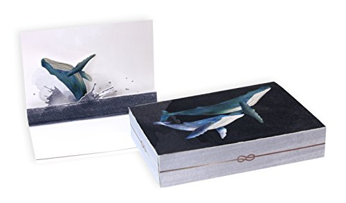 UWP BN127 Luxe-Notizen, Wal-Design, 14 x 10 cm, mehrfarbig