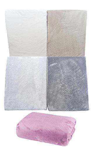 Home Edition Kuscheliges SUPER Soft SPANNBETTLAKEN aus Microfaser (100 x 200 cm, anthrazit)