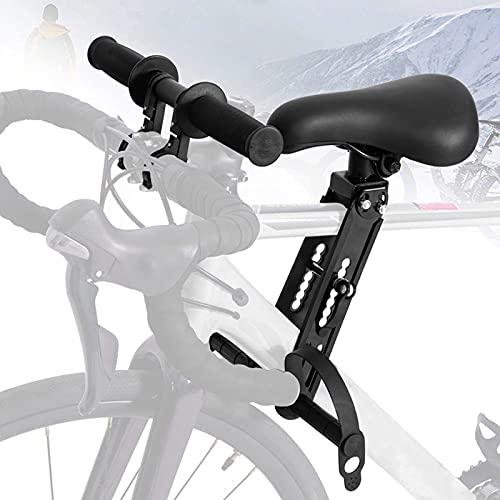 Souarts Kinderfahrradsitz Für Mountainbikes, von 2 Bis 5 Jahren bis Zu 48 Pfund, Verstellbarer Vorneliegender Kinderfahrradlenker, Vorne Montierte Fahrradsitze Tragbarer Abnehmbarer