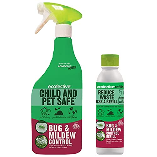 Ecofective Bug & Mildew Control 1L Ready To Use + 200ml Concentrate Refill...