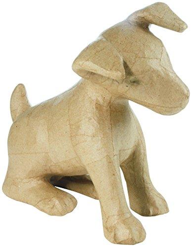 Décopatch MA025O Träger M aus Pappmaché, Jack Russel, 28 x 14 x 25 cm, zum Verzieren, Kartonbraun