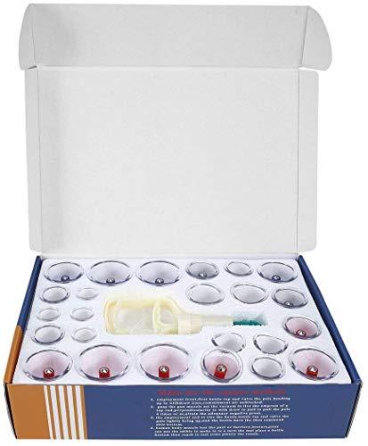 XLL Chinese Health Care Medizinisches Vakuum-Körper-Set, 24 Massagedosen, Becher, Biomagnetische Massagetherapie, Körperentspannungs-Set