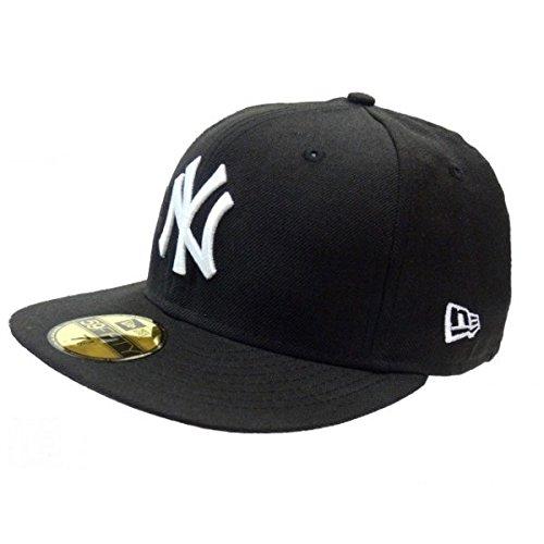 New Era Kinder Baseball Mütze Mlb Basic NY Yankees 59Fifty Fitted, Schwarz (Black/White), 6 1/2, 10879081
