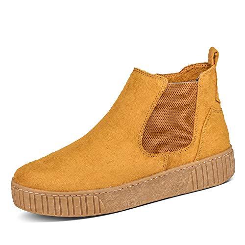 MARCO TOZZI Damen 2-2-25454-35 Chelsea-Stiefel, Mustard Comb, 38 EU