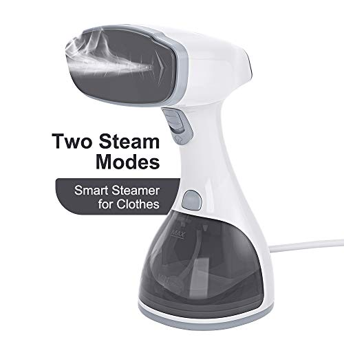 Steamer for Clothes,Fast heating smart Garment steamer with LCD screen.Two ironing modes,Upgraded nozzle and 350ml large capacity water tank,Powerful...