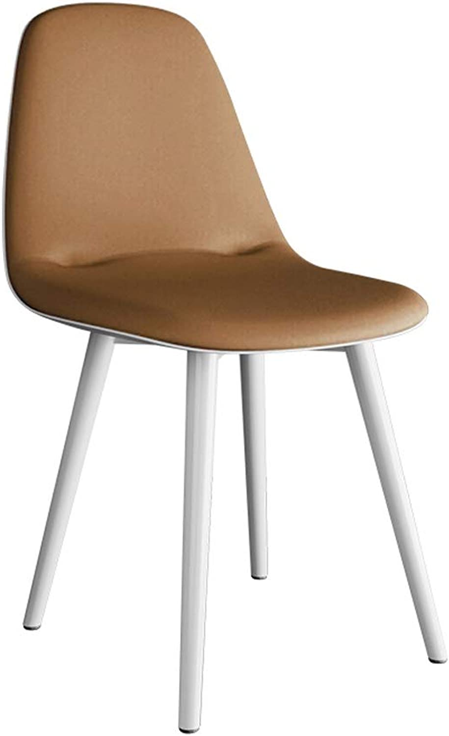 Dining Chair Leisure Backrest Chair Dressing Table Chair Cafe Bedroom Living Room Restaurant Dining Table Chair Computer Chair Barstool Stool (color   Khaki)