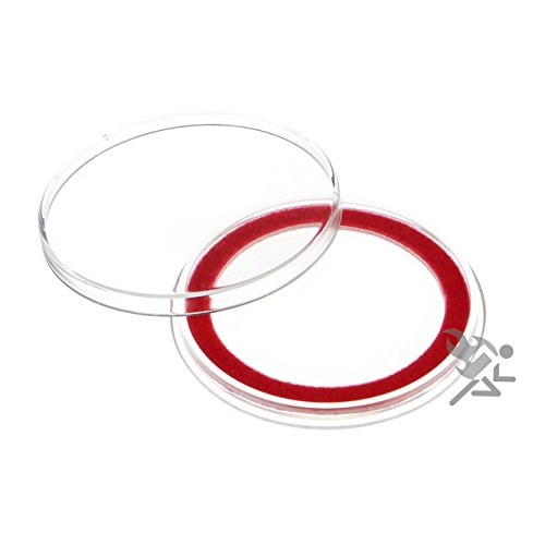 (15) Air-tite 39mm Red Velour Colored Ring Coin Holder Capsules for 1oz Silver & Copper Rounds Casino Chips
