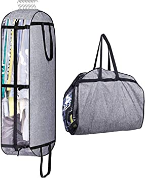 MISSLO Hanging Garment Bags for Closet Storage Moving Bags for Clothes 50  Suit Travel Cover for Men Women Coat Jacket Shirt Clothing