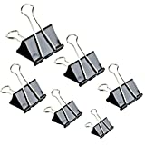 Binder Clips Paper Clamp for Paper-130 Pcs Clips Paper Binder Assorted Sizes (Black) (Office Product)