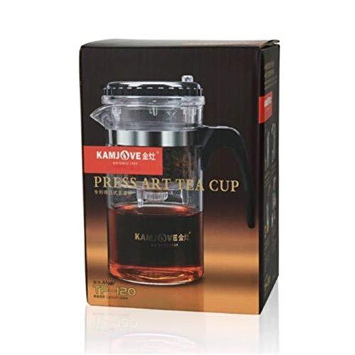 xuan TP-120 Kamjove - Taza de té (Cristal, 200 ml), diseño con Texto en alemán GROßARTIGKEIT