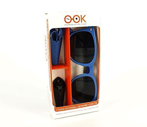 KIT PORTAOCCHIALI O-OK DOPPIO 100/% made in Italy portaocchiali da auto con clip per fissaggio e portaocchiali persona con laccetto Kit 2 portaocchiali in silicone atossico e anallergico