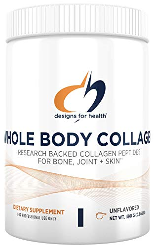 Designs for Health Whole Body Collagen Powder - Pure Collagen Peptides Supplement for Bone, Skin + Joint Support - Flavorless Drink Mix for Water, Shakes + Smoothies (30 Servings / 390g)