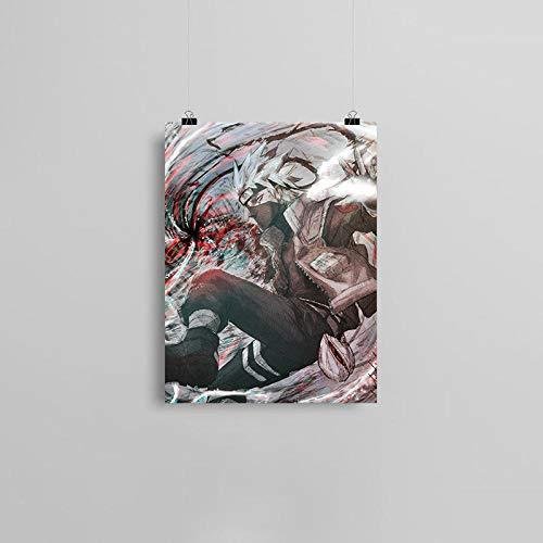 wZUN Ninja Anime Leinwand Poster Ölgemälde Wandkunst Dekoration Wohnzimmer Schlafzimmer Studie Home Decoration Print 57x80cm Rahmenlos