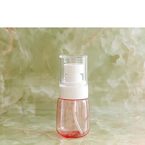 BBNBY Mini dispensador de jabón Recargable, plástico Redondo Transparente, portátil, dispensador de jabón líquido, Adecuado para Viajes al Aire Libre, Color Blanco, 2 onzas por Taza, 4 x 9 cm (2 x