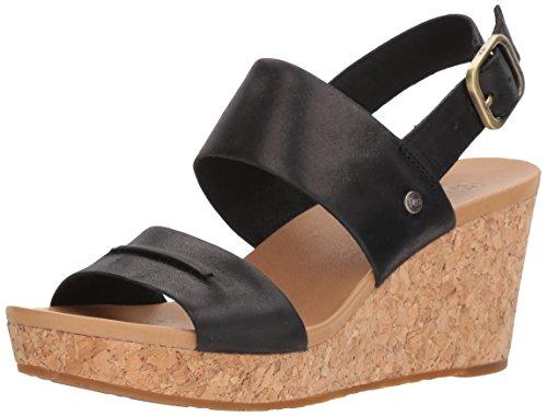 UGG Damen Elena II Keilabsatz-Sandale, schwarz, 40 EU