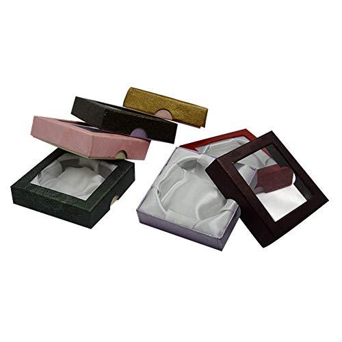 NBEADS Schachtel, 72 Stück, 9 X 9 cm, Quadratisch, Mit Fenster, Pappe, Gemischte Farben, Geschenk-Box Für Schmuck, Armband, Halskette, Basteln, Geschenk, Armreif, Display Und Aufbewahrung.