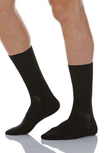 Relaxsan 560 (Negro, Tg.3) Calcetines cortos para diabéticos con tejido natural Crabyon