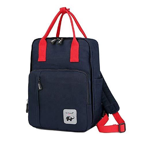 MYWILON - Mochila cambiador para bebé y mamá – Gran capacidad – Bolsa de pañales multifunción impermeable – Bolsa de viaje con compartimento para ordenador portátil y logotipo reflectante (azul)