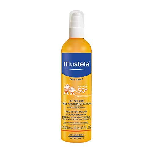 Mustella Solar Milk, eficaz y suave para la piel, alta protección contra los rayos UVA y UVB, 300 ml