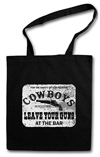 Urban Backwoods Cowboys Safety Sign Hipster Bag – Cow-Boy Cowgirl USA US Confederate Western Country Fun Comedy Rodeo Native American Desperado Outlaw Frontier CSA Fun