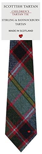 I Luv Ltd Garçon Tout Cravate en Laine Tissé et Fabriqué en Ecosse à Stirling and Bannockburn Tartan