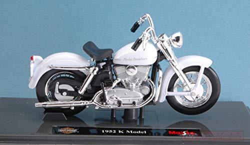 New Maisto 1:18 Harley Davidson Black 1952 K Model Motorcycle Diecast Model Toys