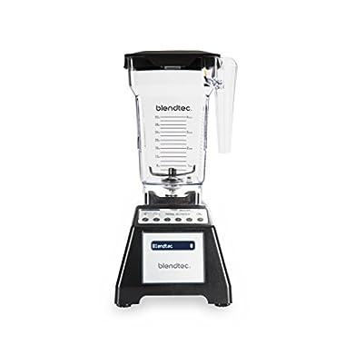 Blendtec Total Classic Original Blender with FourSide Jar (64 oz), Commercial-Grade Power, 6 Pre-programmed Cycles, 10-speeds, Black